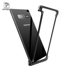 Oatsbasf Luxury Metal Case For Samsung Galaxy S10 Plus S10e Personality for Bumper Cover shockproof