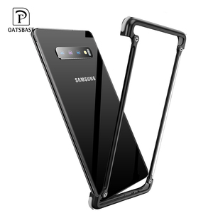 Image 2 - Oatsbasf Luxury Metal Case For Samsung Galaxy S10 S10 Plus S10e Personality for Metal Bumper Cover shockproof  Case