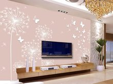 customized wallpaper for walls Dandelion background wall classic wallpaper for walls custom 3d wallpaper(China)