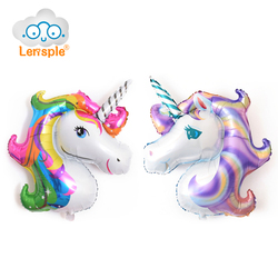Lensple 2pcs 117 87cm giant rainbow purple unicorn helium inflatable foil balloons wedding birthday party decorations.jpg 250x250