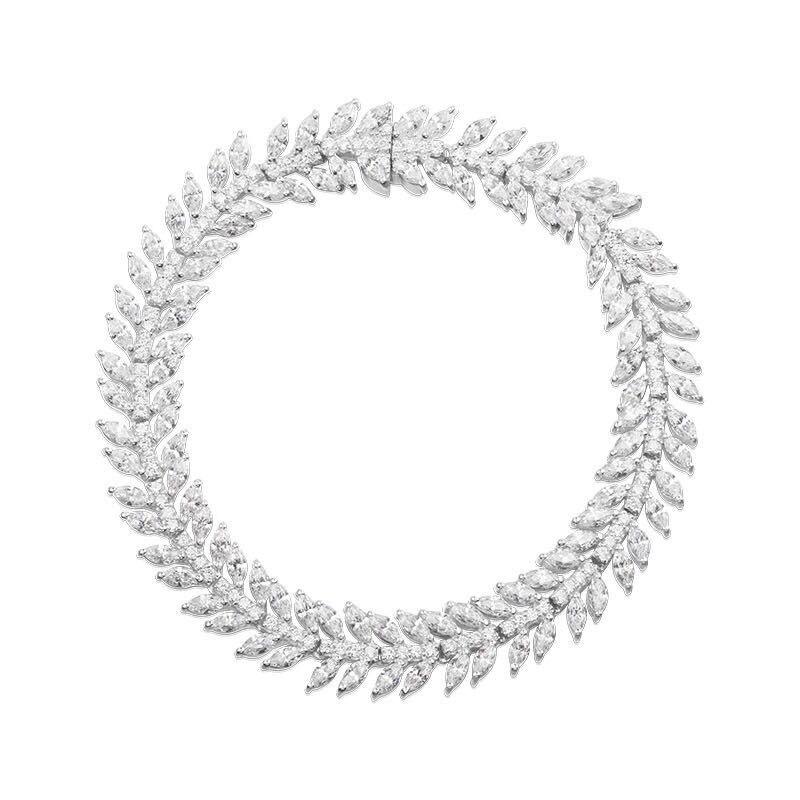 [MeiBaPJ] Très Belle Olive Feuille Bracelets S925 Argent Bracelets Bijoux Personnalité De La Mode Tempérament tout-allumette pour les Femmes