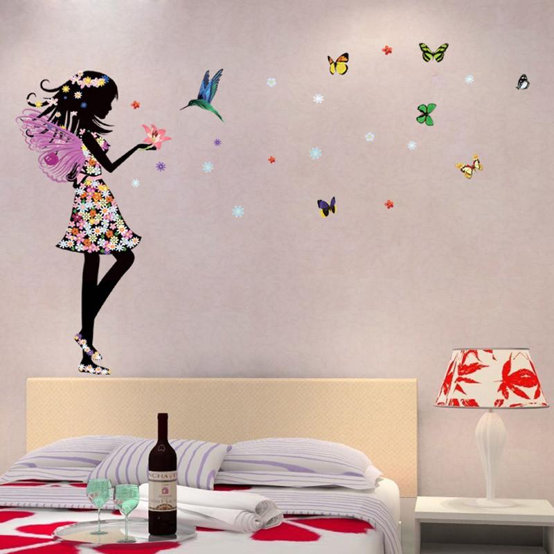 HTB11I13KpXXXXXOXXXXq6xXFXXXc Beautiful Butterfly Elf Arts Wall Sticker For Kids Rooms