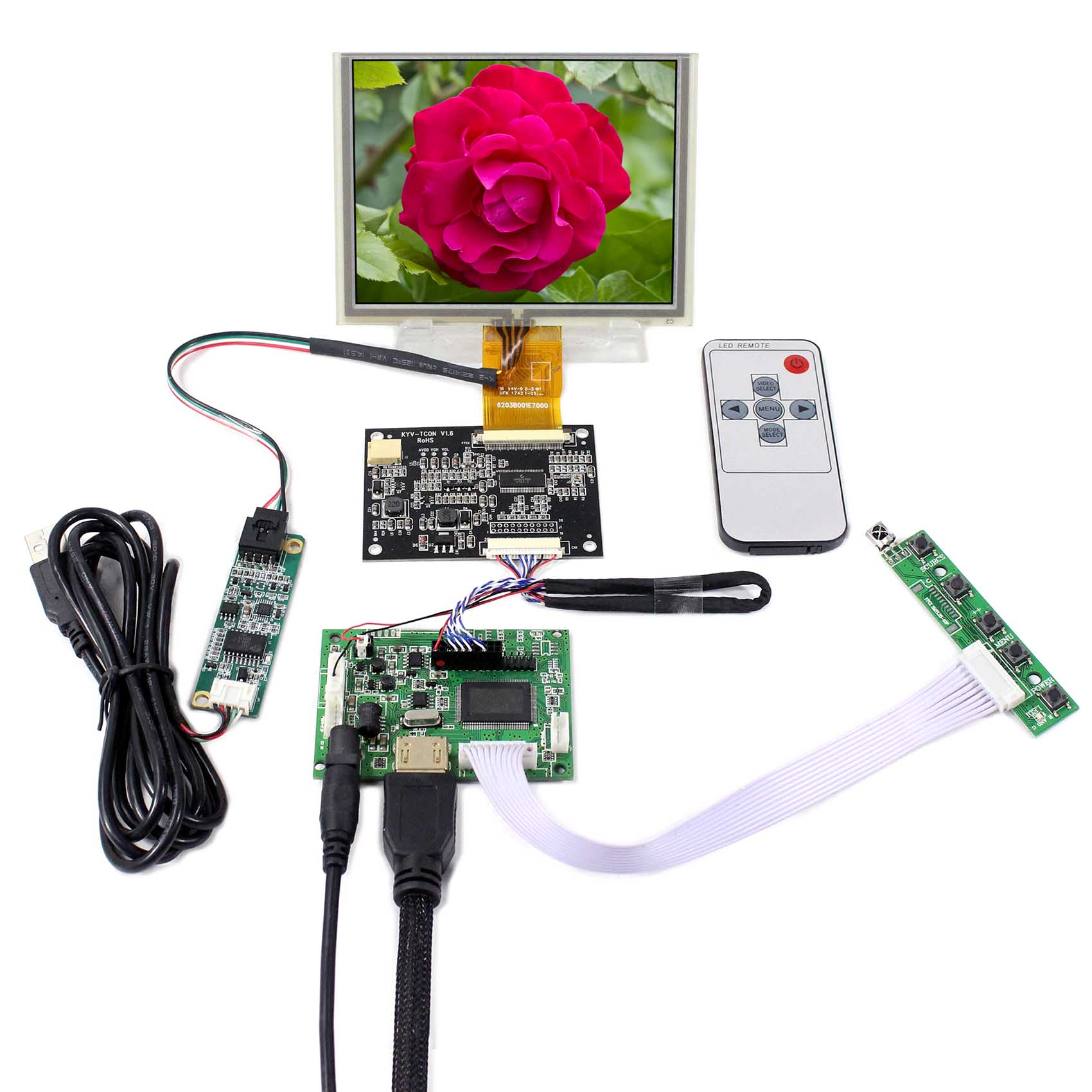 HDMI Controller Board+5inch ZJ050NA-08C Replacement AT050TN22 640x480 LCD With Touch PanelHDMI Controller Board+5inch ZJ050NA-08C Replacement AT050TN22 640x480 LCD With Touch Panel