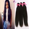 9A Rosa Hair Products Malaysian Virgin Cabello Liso 3 Paquetes de Malasia Pelo de la Armadura Bundles Barato 100% Del Pelo Humano Suave y sedoso