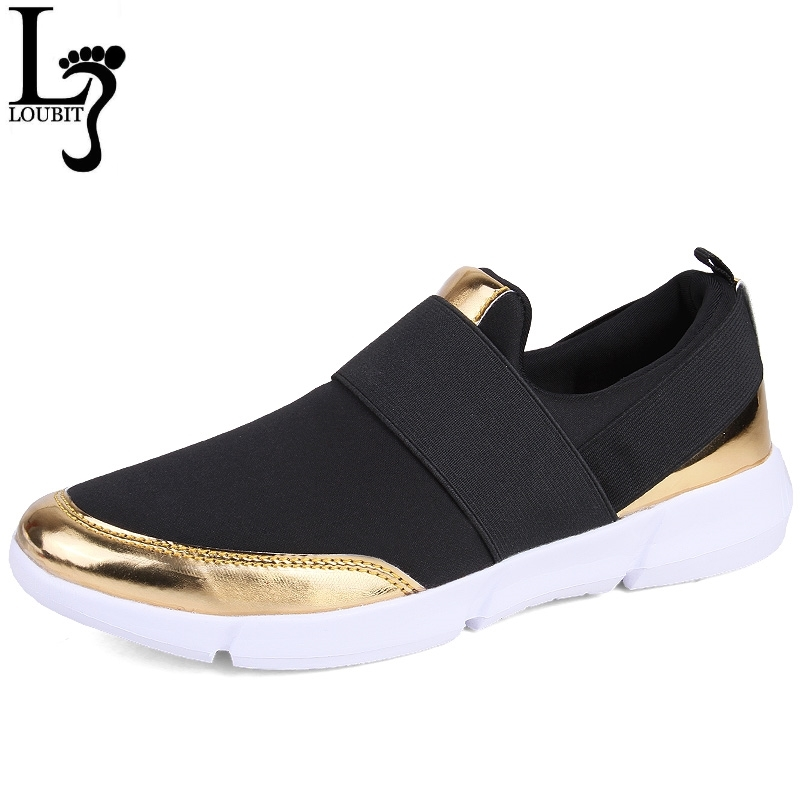 Women Shoes 2018 New Fashion Lady's Casual Loafer Shoes Black Grey Woman's Slip On Flats Summer Lightweight Shoe Big Size 35-42(China)