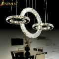Hot sale Diamond Ring LED Crystal Chandelier Light Modern Lamp Circle Light Fashion Style Crystal Luxury Bedroom Chandelier