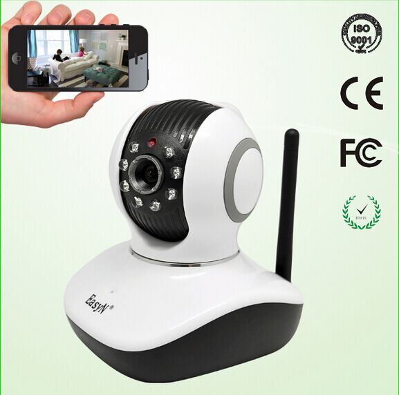 EasyN Mini 10D 1.0MP H.264 CMOS Wireless Indoor IP Camera with Pan / Tilt Night Vision Surveillance Baby Camera easyn a115 hd 720p h 264 cmos infrared mini cam two way audio wireless indoor ip camera with sd card slot ir cut night vision