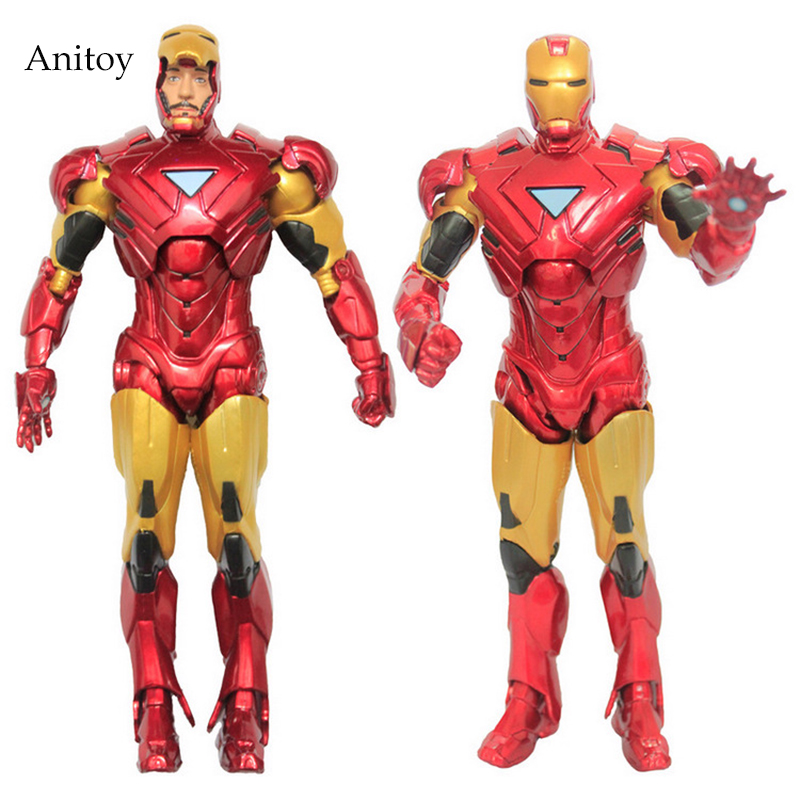 Retail Wholesale Marvel Iron Man 3 Action Figure Superhero Iron Man Tonny Mark 42 PVC Figure Toy 20cm Chritmas Gift marvel iron man mark 43 pvc action figure collectible model toy 7 18cm kt027