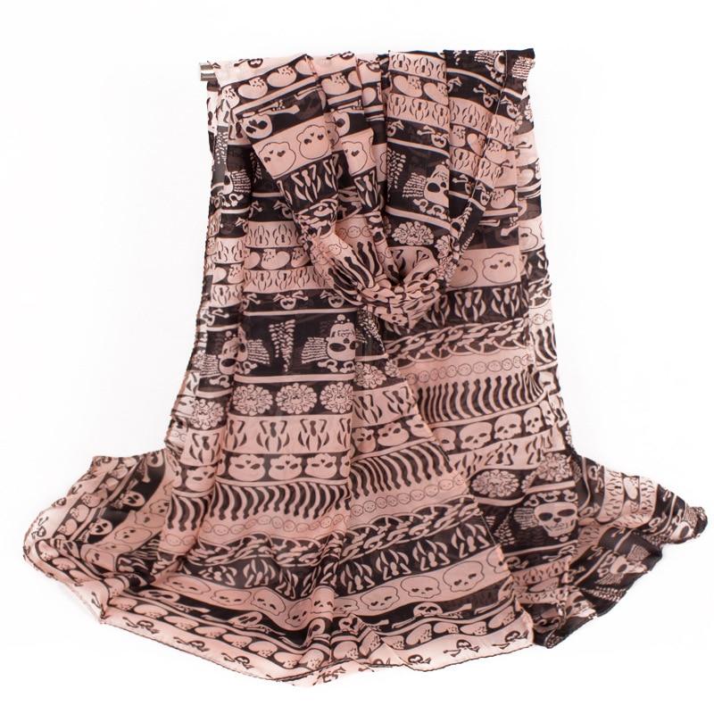 buy wholesale chiffon skull scarf from china