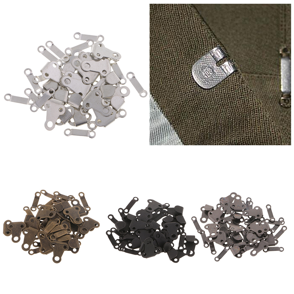 40 Sets Trousers Skirts Hooks and Bars Eyes Fasteners Sew on Silver Black