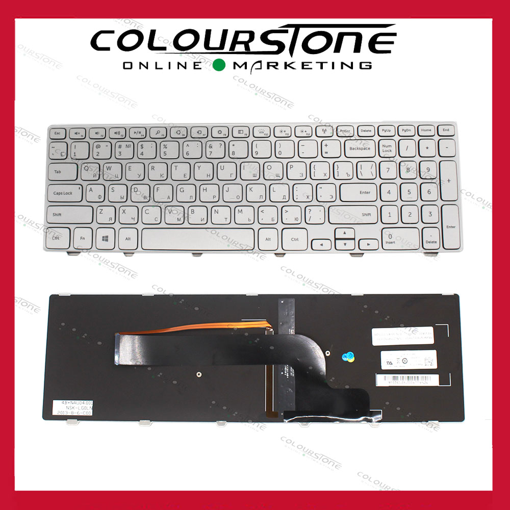 RU Russian language keyboard for Dell Inspiron 15-7000 15 7537 7737 15HR 2525s 2528s series Laptop Keyboard backlit V143625AS1 backlit us new laptop keyboard for dell inspiron 15 7537 7000 p36f 7537 sliver