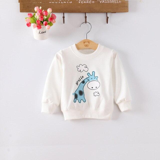 Baby girls boy sweatshirts Infant jackets Children clothing long sleeve Pink Yellow White Red giraffe pattern freeshipping