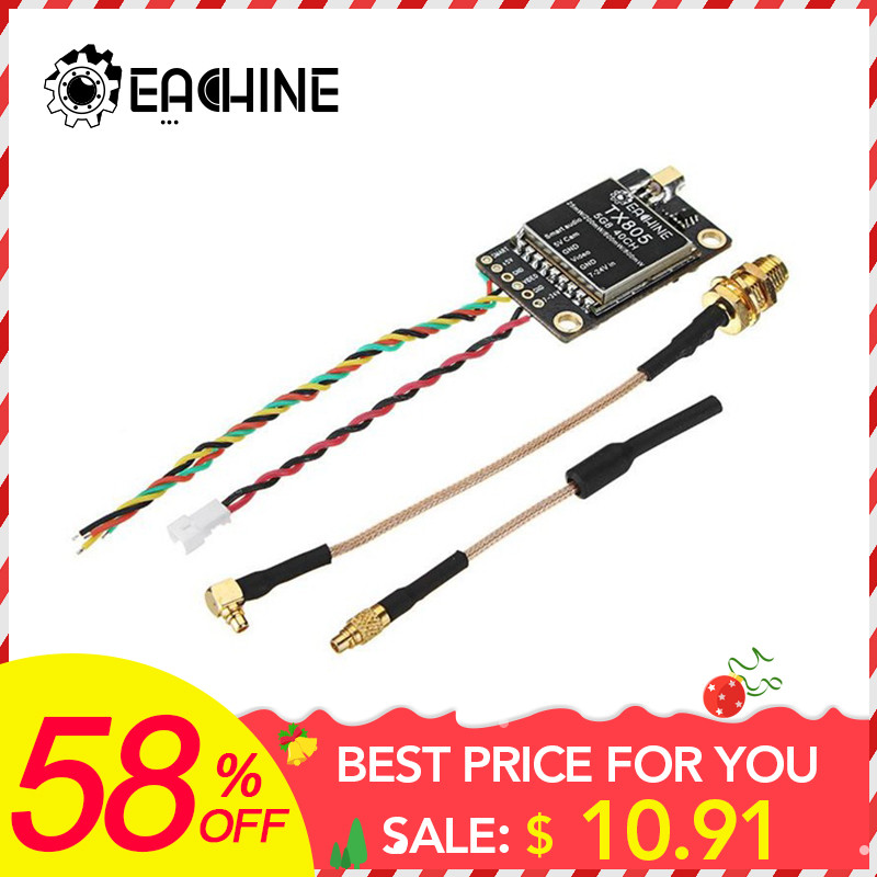 Eachine TX805 5.8G 40CH 25/200/600/800mW FPV Transmitter VTX LED Display Support OSD/Pitmode/Smartaudio(China)