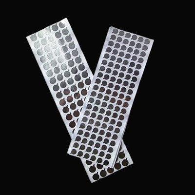 1sheets Size 9mm 11mm Silver Aluminum Foil Sealing Label, Cosmetic Soft Tube Stickers Aluminum Foil Labels