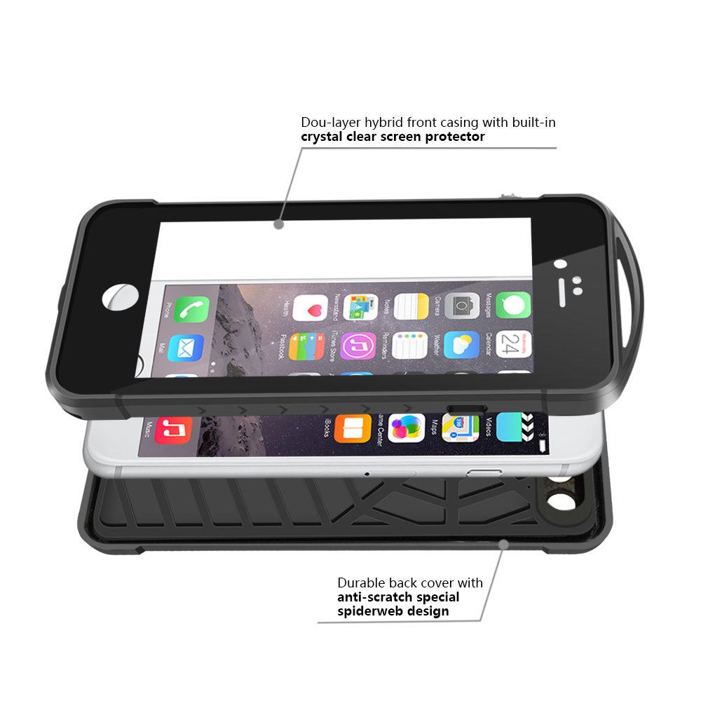 For Iphone6 6splus55 Outdoor Sport Spidercase Waterproof Level Ip68 Case Iphone Xs Plus Spigen Anti Shock With Stand Tough Armor Casing Black Shockproof Snowproof Rugged Capsule Screen Protector In Fitted Cases From