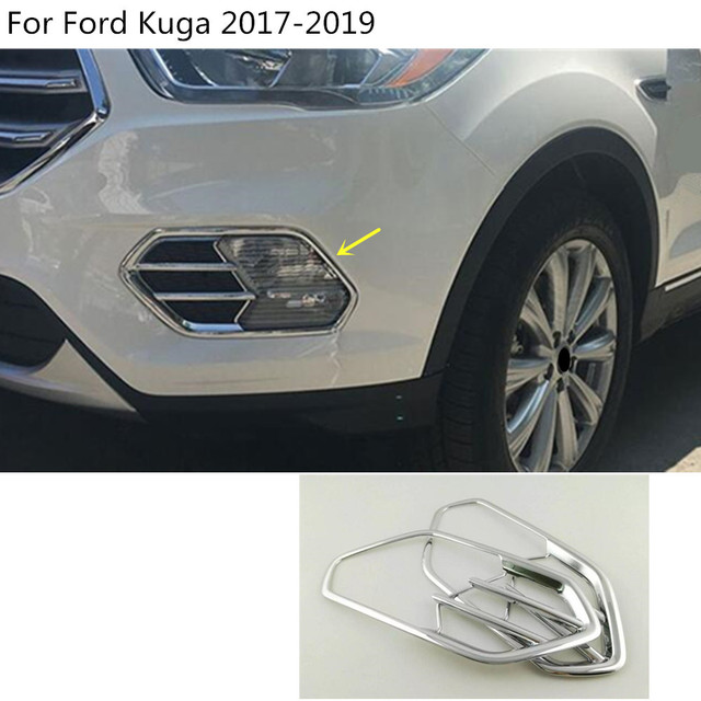 Car styling body front fog light lamp frame stick styling abs chrome car styling body front fog light lamp frame stick styling abs chrome cover trim parts 2pcs aloadofball Image collections