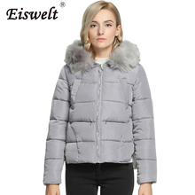 Russian Style with Faux Fur 2017 Women's  Coat Fashion Down Cotton Padded Basic Thick Ladies Jackets Outerwear & Coats Suit Wc19