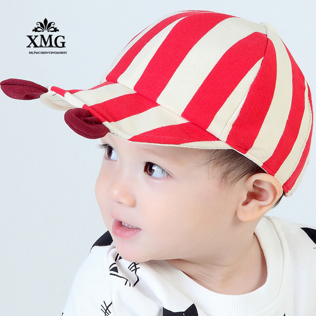 100% pure cotton Baby hat spring and autumn 5 months-2 year old Korean  children s cowboy sun hats male baby duck tongue cap 7f3fea7f10c