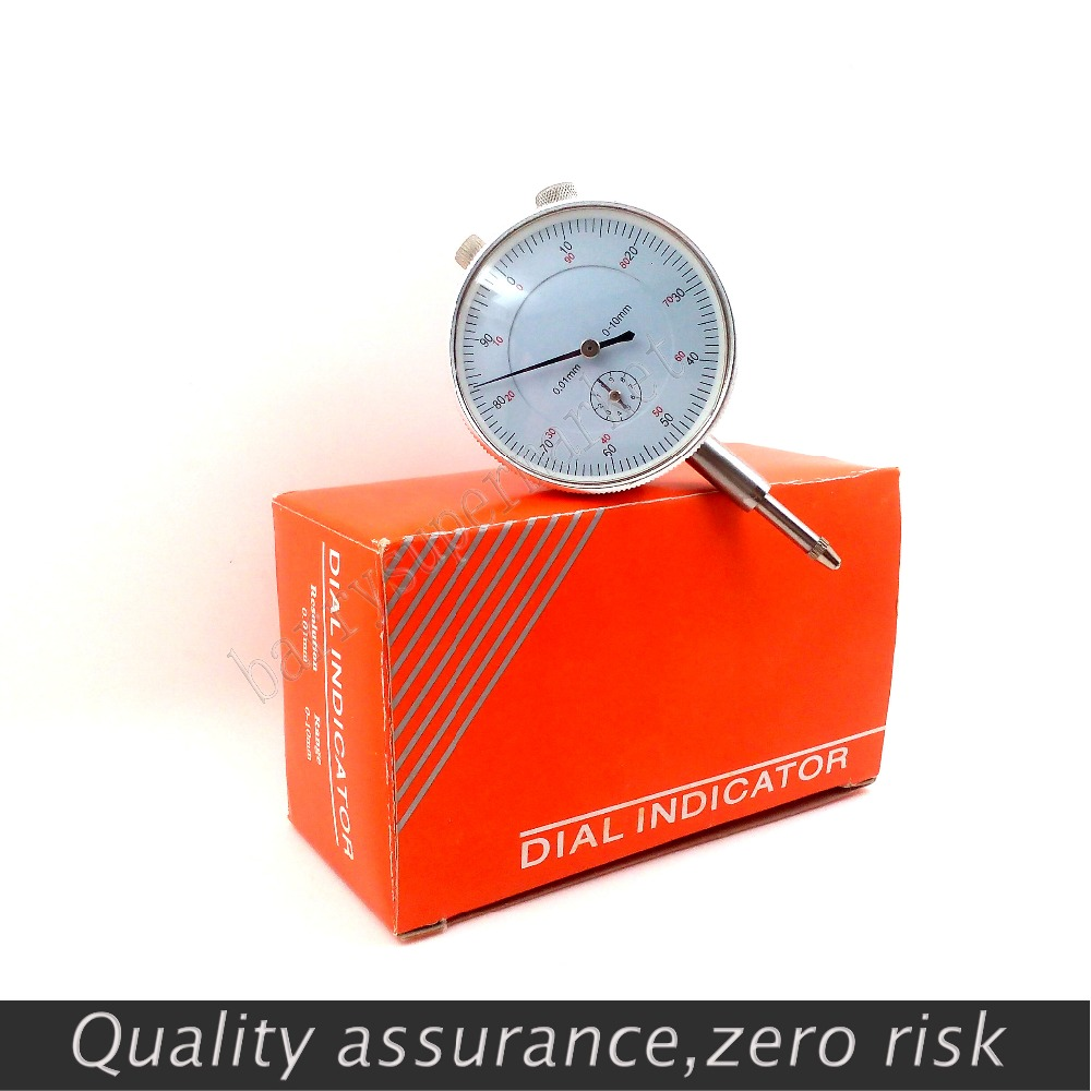 10PC Dial Indicator Gauge 0 10mm Meter Precise 0 01Resolution Concentricity Test PTSP With Lug Back