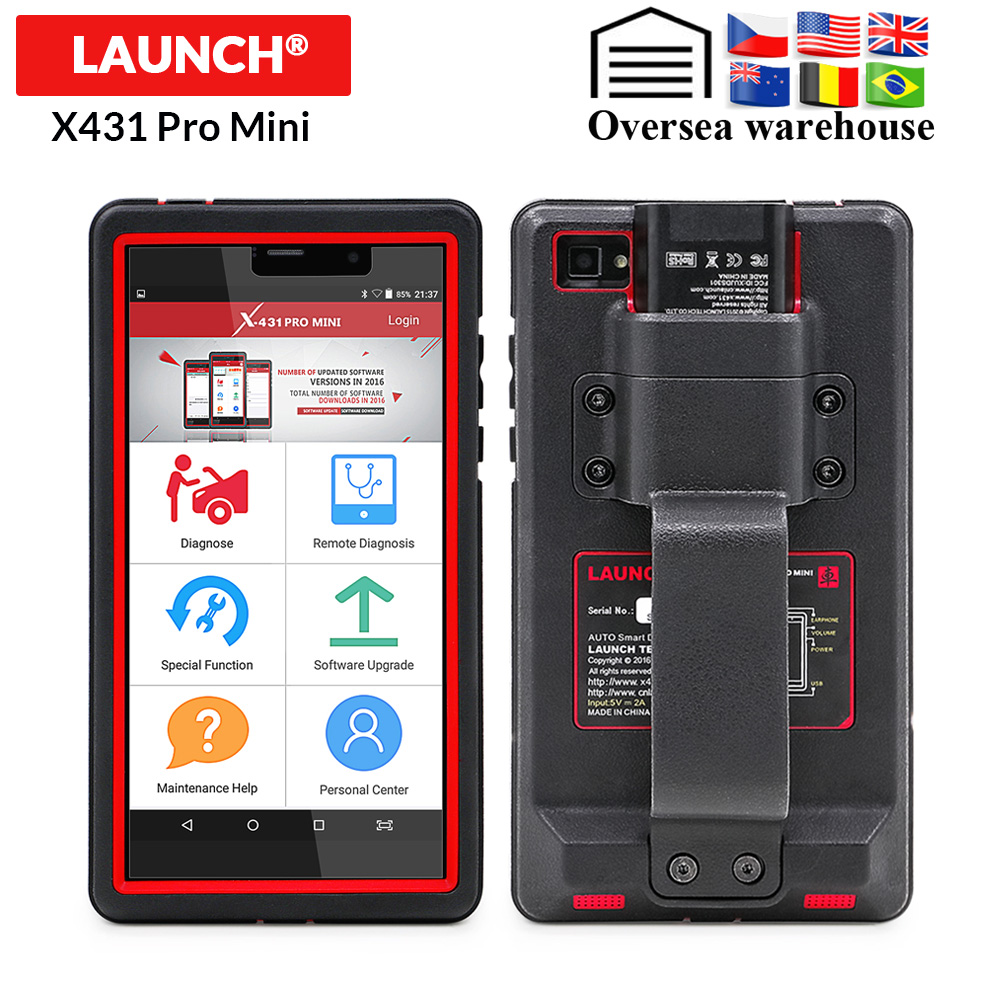 LAUNCH X431 Pro Mini Full Systems Auto Diagnostic tool WiFi/Bluetooth X 431 Pro mini OBD2 Car Scanner 2 years free update X431 V-in Engine Analyzer from Automobiles & Motorcycles    1
