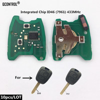 QCONTROL Car Remote Control Key Electronic Circuit Board for Citroen C2 / C3 Pluriel, 2003 2006, part number 6554RJ 2 Buttons