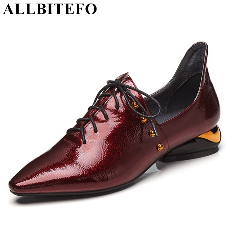 ALLBITEFO fashion rivets pointed toe thick heel high shoes spring high quality low-heeled girls pumps ladies shoes high heels 2017 new summer women flock party pumps high heeled shoes thin heel fashion pointed toe high quality mature low uppers yc268