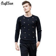 2017 New Autumn Fashion Brand Casual Sweater O-Neck Slim Fit Knitting Mens Sweaters Pullovers Men Wool Acrylic Nylon Pullover