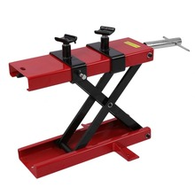 500KG Motorcycle Motorbike Bike Stand Scissor Lift Jack Paddock Workshop Bench Wide Deck Motorcycle Center Hoist Stand J28C30