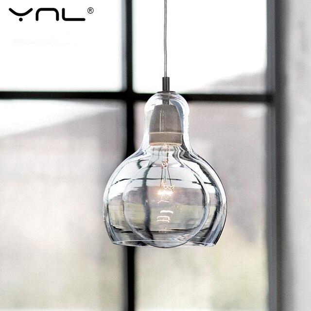 Cavo YNL Moderno Loft Lampade A Sospensione Paralume In Vetro ...