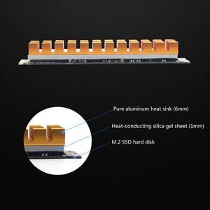 Image 3 - جديد المبرد تبديد الحرارة M.2 NGFF التبريد بالوعة الحرارة منصات الحرارة الحرارية ل M.2 NGFF 2280 PCI E NVME SSD