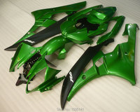 Hot Sales,For Yamaha YZFR6 green black Bodywork kit YZF R6 06 07 YZF R6 2006 2007 Motorbike Plastic Fairing(Injection molding)