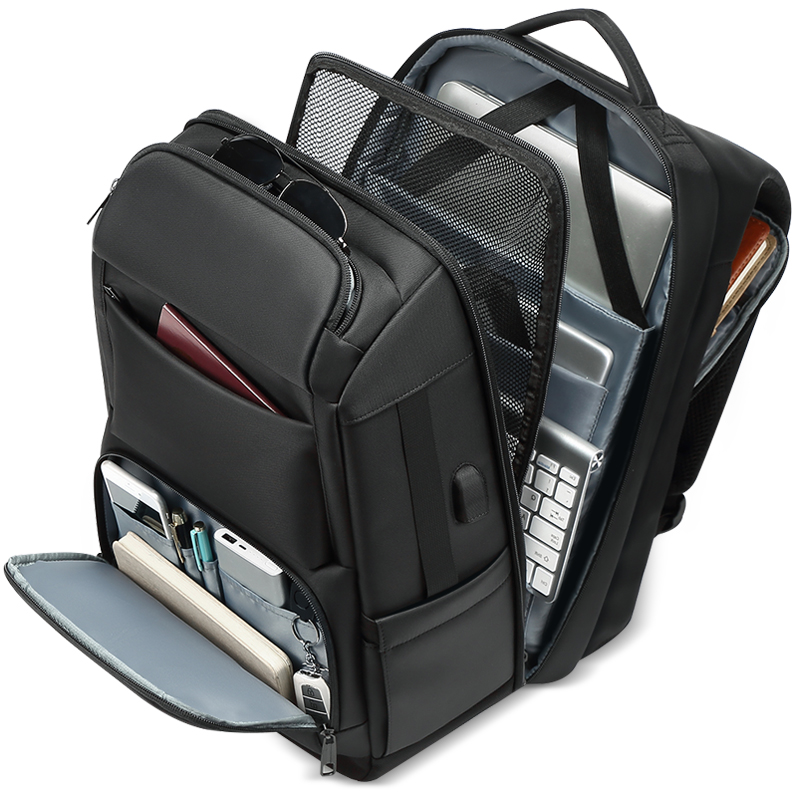Men's Backpacks USB Interface Shoulders Anti-theft Travel Backpack 15-17 Inch Waterproof Laptop Backpack Mochila Masculina
