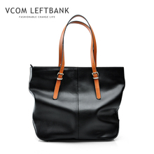 women bag hot sale genuine leather casual totes famous design brand large solid handbags fashion black zipper shoulder bags h05