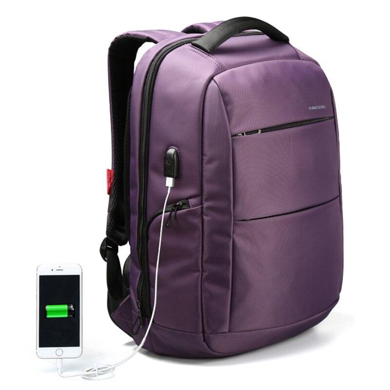 2019 Candy violet sac à dos pour ordinateur portable homme quotidien sac à dos sac de voyage sacs d'école 15.6 pouces femmes sac à dos Mochila Feminina unisexe-in Sacs à dos from Baggages et sacs    2