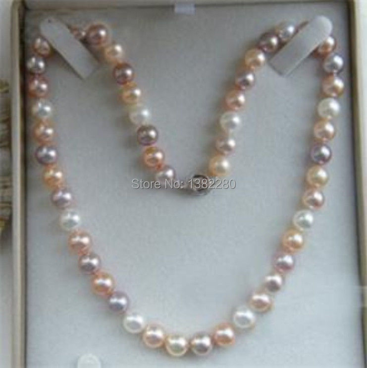7-8mm Multicolor freshwater pearl necklace