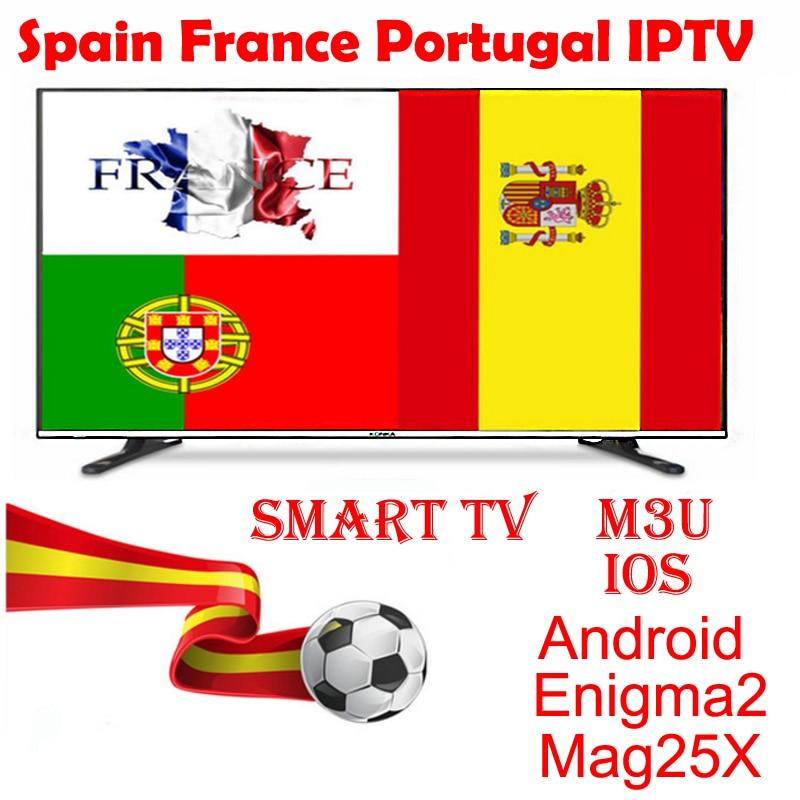 1 año Portugal francés IPTV suscripción Albania España cuenta para Iphone M3U Smart Tv Enigma2 Mag