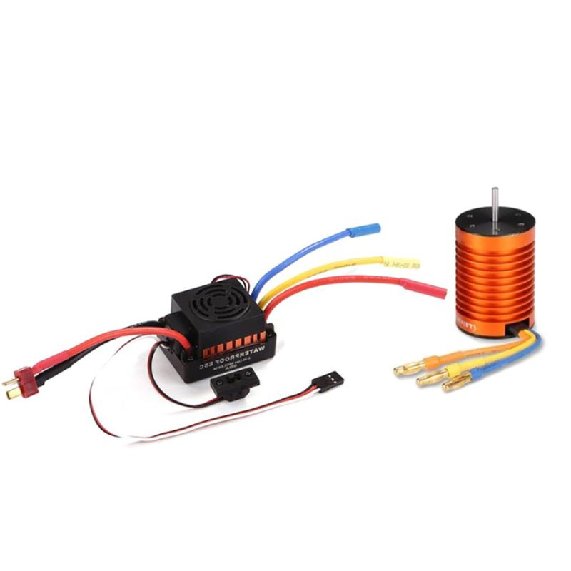 Premium Quality New Waterproof 9T 4370 KV Brushless Motor 60A ESC Set for 1:10 RC Car Truck Boat Spare Parts