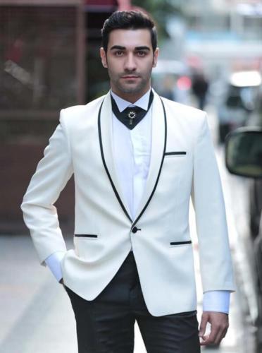 Costumes Porter Smokings Marié 2017 multi Partie De Hommes Pantalon Blanc  Pour Arc Mariage Mode Made veste Homme Custom Meilleur ... 5eb3748cb59