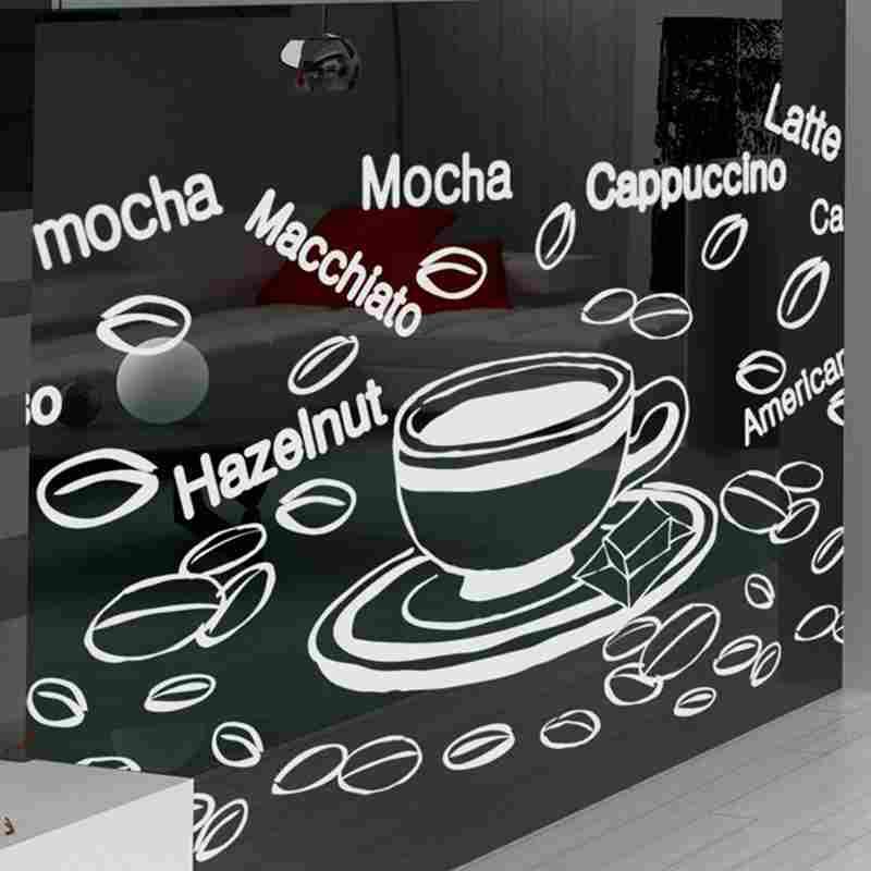 DCTAL Coffee Sticker Food Decal Cafe Poster Vinyl Art Wall Decals Pegatina Quadro Parede Decor Mural Coffee Sticker чехол soft touch для asus zenfone 2 laser ze600kl ze601kl df aslim 12 черный