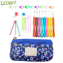 27 Pcs Looen DIY Crafts Knitting Needles Keychain Crochet Hook Sweater Scarf Weaving Tools Hand Kits With Bag