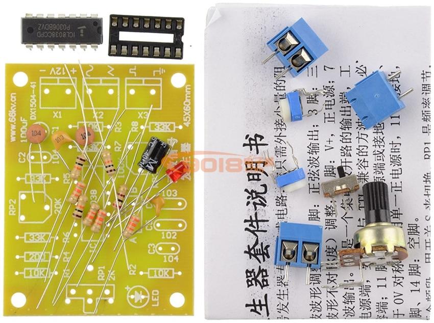 ICL8038 Function signal generator circuit Kit / Sine wave