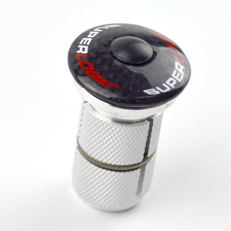 Superlogic L'expansion Casque Expander Plug Tige carbone Top Cap pour 1-1/8 28.6mm Pour Route VTT Vélo Fourche en fiber de carbone