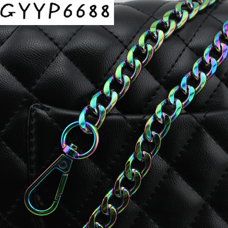60cm-130cm High Quality Width 12mm Rainbow Chains Shoulder Straps For Handbags Purses Bags Strap Replacement Handle Accessories