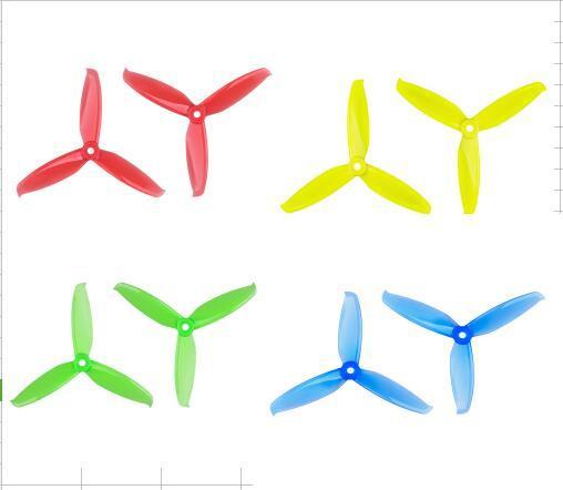 12 pares Gemfan 3052 Flash 3.0x5.2 PC Propeller Prop 5mm Furo De Montagem para 1306-1806 Motor RC Zangão Azul Rosa Vermelho Preto