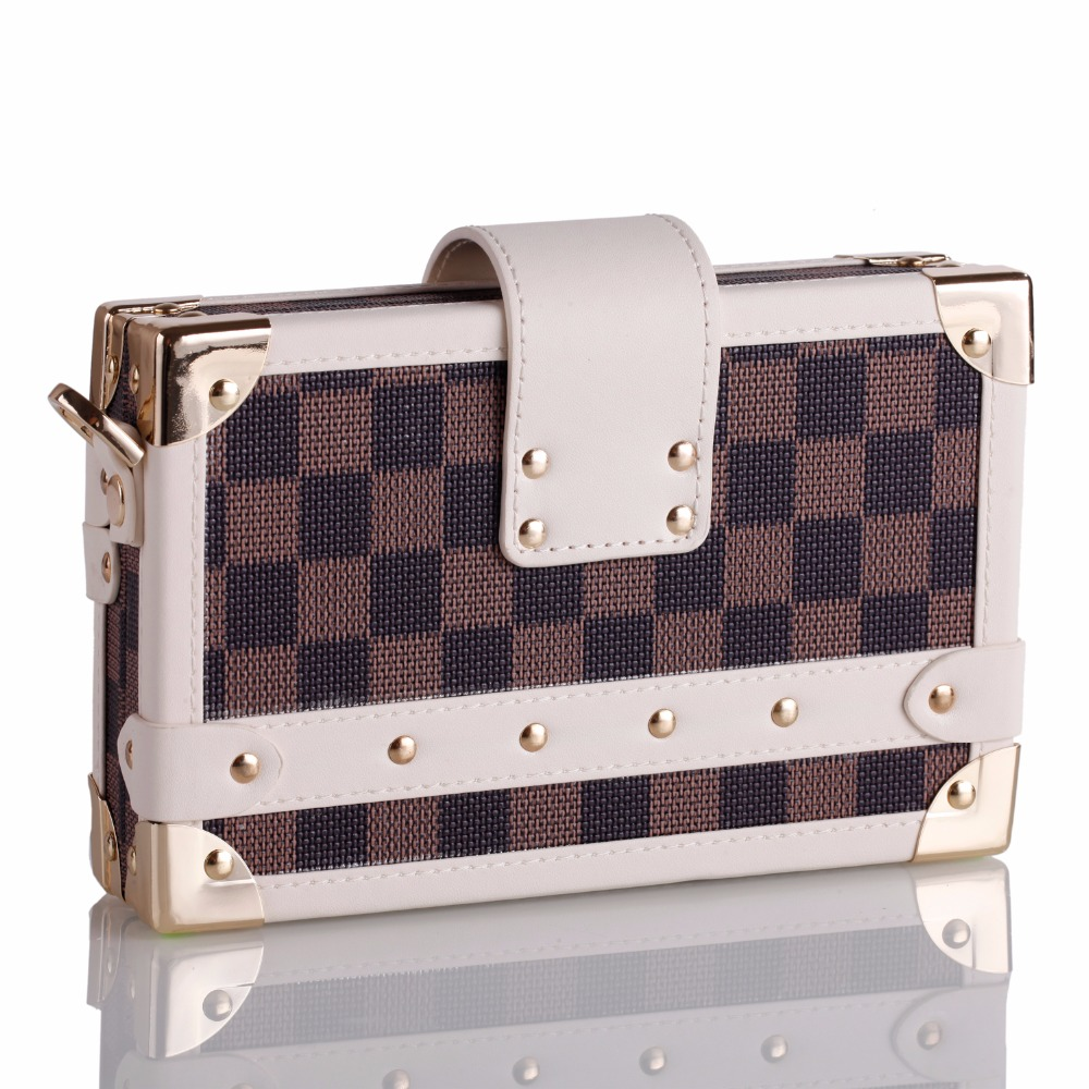 Womens Brown Clutch Bag Jewelry Storage Satchel Handbag Adjustable Strap Shoulder Bag Trinket Box PU Cell Phone Case ZG240 funny cell phone strap