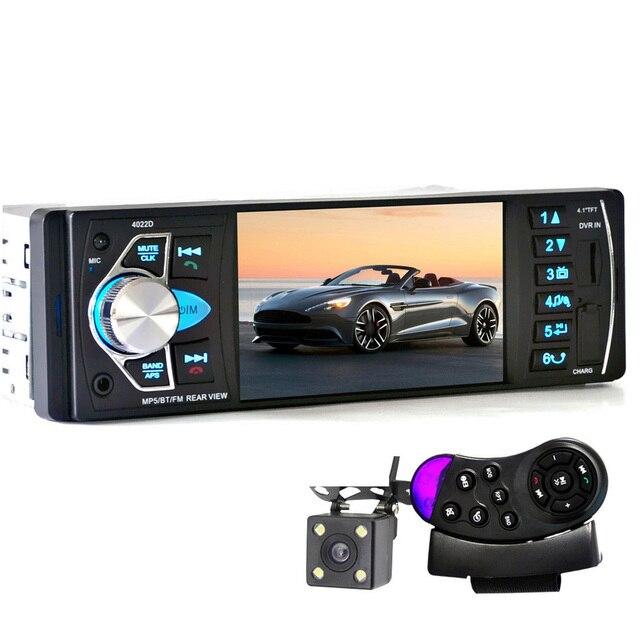 4022D 1din Радио MP4 Плеер 4.1 Дюймов Автомобильный MP3 MP5 плеер Bluetooth FM Стерео Авто Аудио С Камеры Заднего вида Рулевого колеса