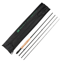 Maxway 3/4 5/6 Fly Fishing Rod 4 Segments Medium Fast Action Carbon Fiber Fishing Rods 2.1m 2.7m Wooden Handle Pole