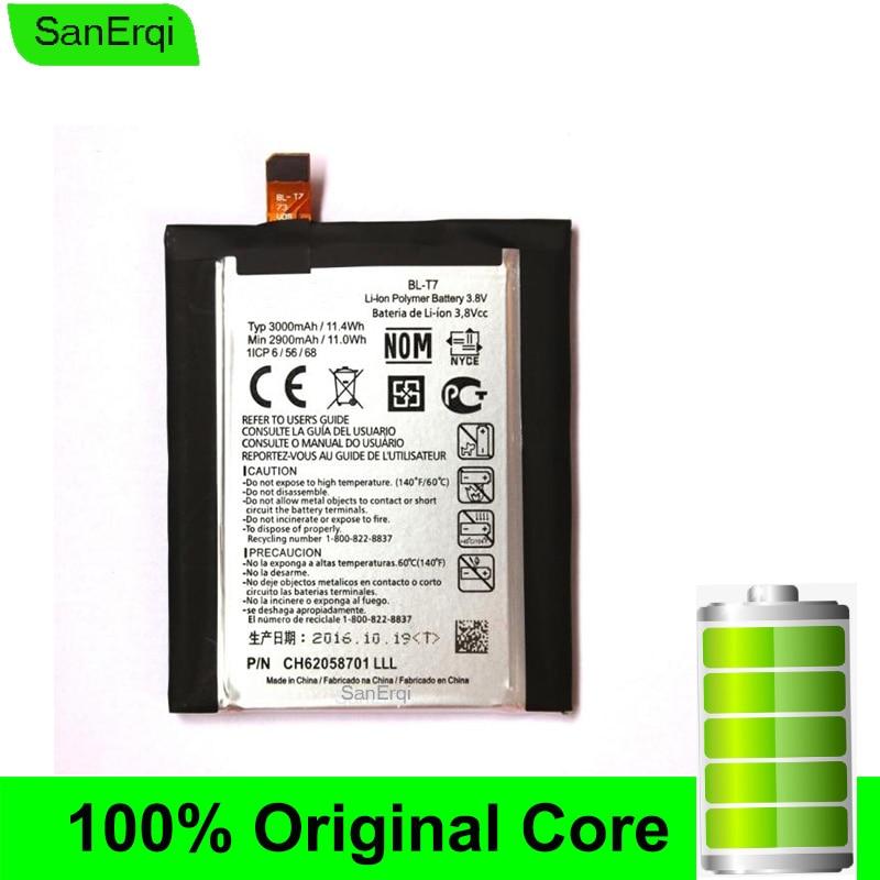 BLT7 BL-T7 For LG G2 D800 D801 D802 LS980 VS980 Battery New Test  SanErqi