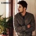 Simwood 2016 nueva otoño invierno bombardero chaqueta para hombre de moda abrigos casuales brand clothing wj1653