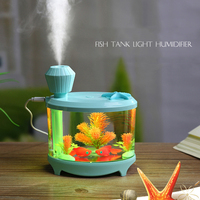 IVYSHION 460ML USB Fish Tank Lamp Humidifier Home Air Purifier Atomizer Colorful Night LED Changing Mini